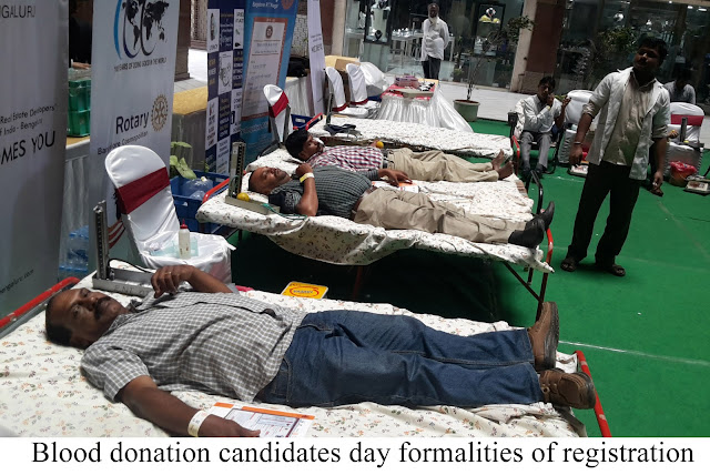 General Public, Youth, Students donate blood donation drive at Barton Centre Supported by CREDAI-Bengaluru