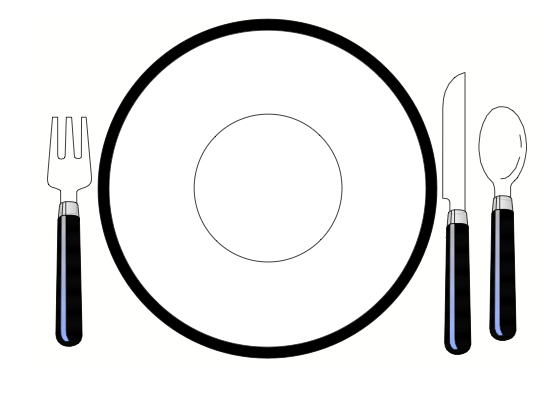 el plato del buen comer para colorear