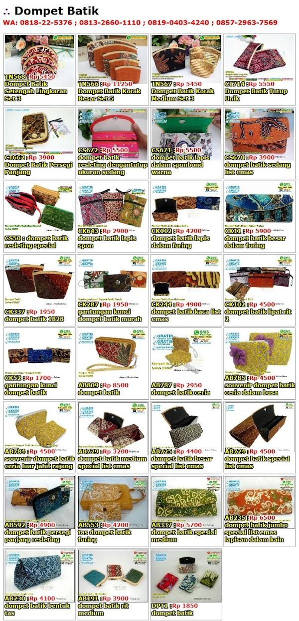 Daftar Harga Dompet Batik