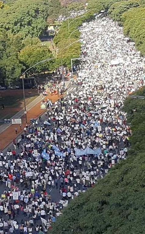 Marcha pela vida e contra o aborto, Buenos Aires.