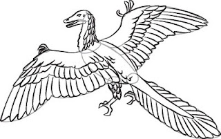 Adorable Archaeopteryx Coloring Sheet