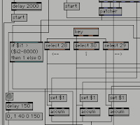 [Image: Part of a screenshot of a program; boxes with text in them resembling programming instructions, and lines connecting the boxes to each other.]