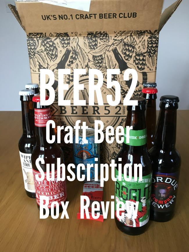 Beer52-craft-beer-subscription-box-review-text-over-image-of-beer