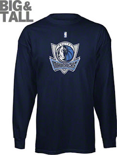 Big and Tall Dallas Mavericks Long Sleeve Shirt