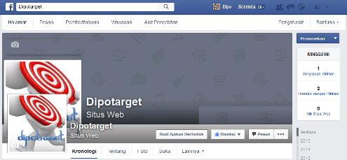 Gambar Laman Facebook Dipotarget - Dipopedia