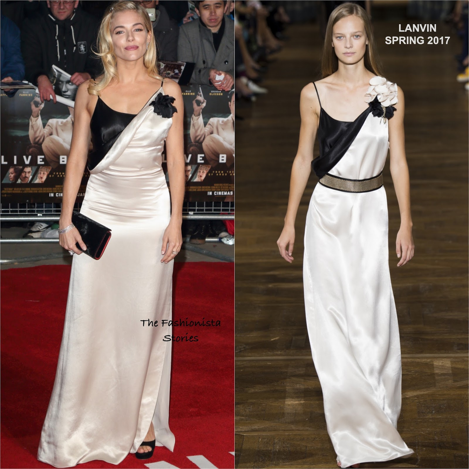 Sienna Miller in Lanvin at the \'Live by Night\' London Premiere