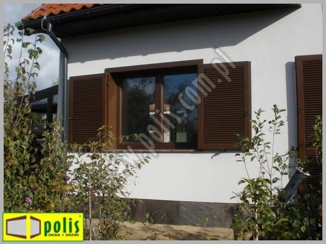 okiennice zewnętrzne drewniane, okiennice Poznań, producent, okiennice z drewna,