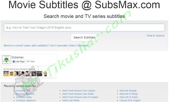 Situs Download Subtitle bahasa indonesia terbaik