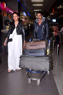 Arjun Rampal spotted at airport to leaving for Cannes-2012