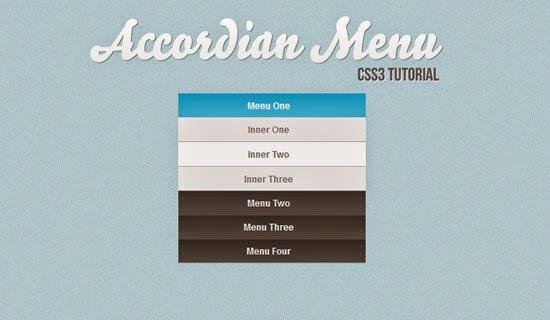 Create a Vertical Accordion Menu using CSS3 Tutorial