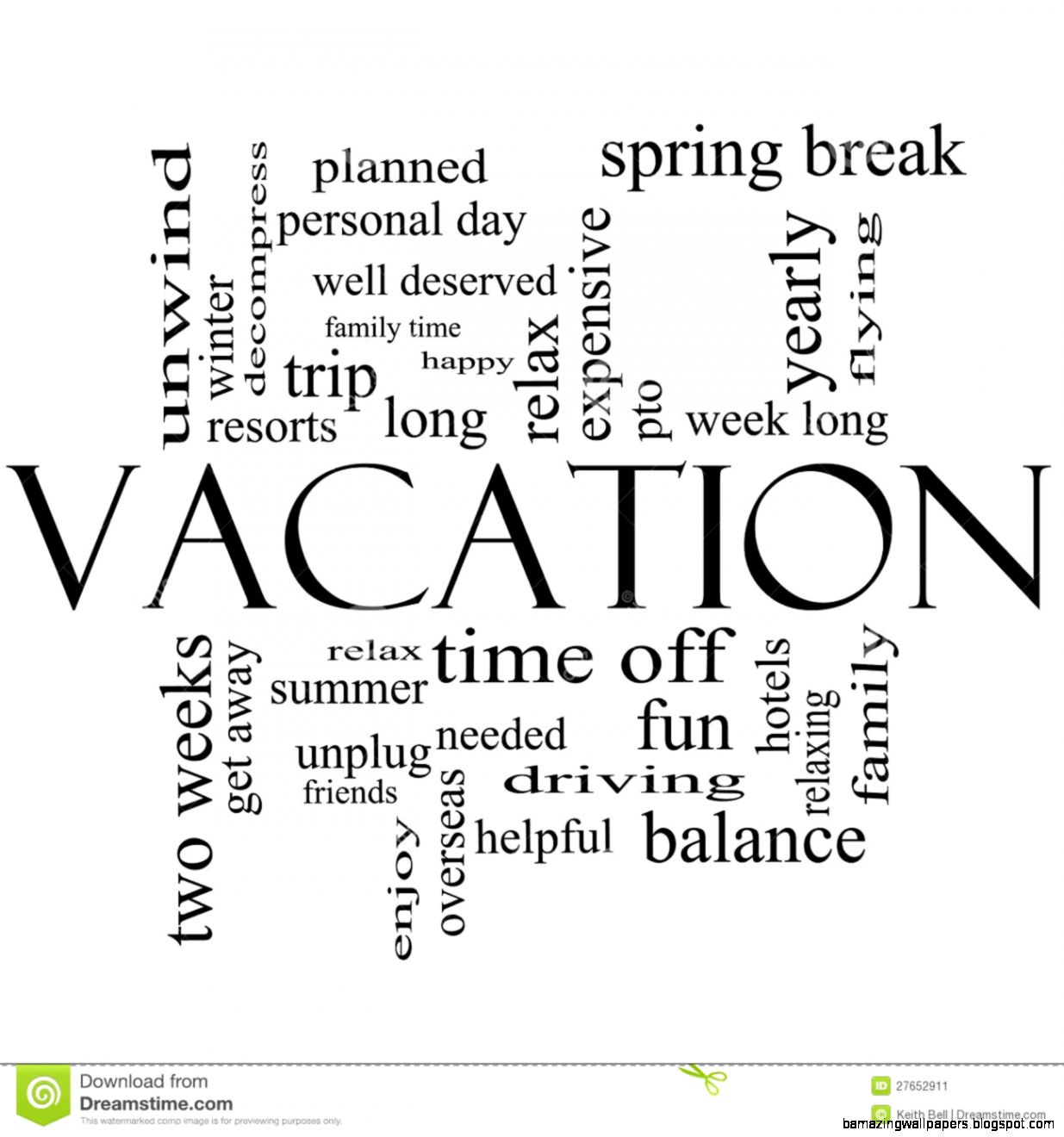 Summer Vacation Clip Art Black And White | Amazing Wallpapers