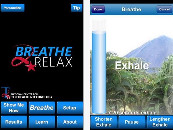 App Breath2Relax para el estrés y la ansiedad