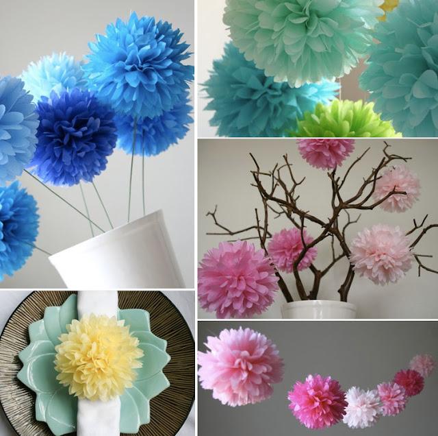 MrsMommyHolic: DIY: Decorating with paper pom poms