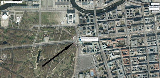 Brandenburg Gate Aerial Photography with markers