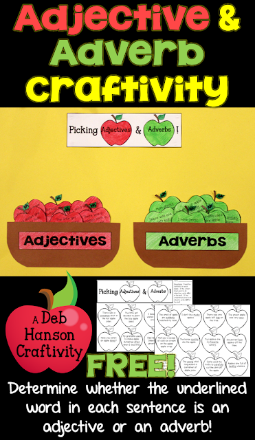 Check out this FREE Parts of Speech Craftivity! Students differentiate between adverbs and adverbs written in sentences!