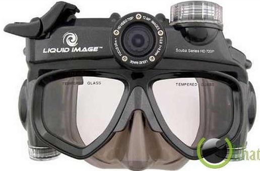 masker selam unik gabungan dengan camera underwater