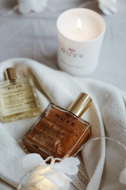 olejek do ciała z drobinkami