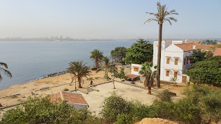 Dakar mainland on the background