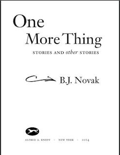 One More Thing by B. J. Novak PDF Book Download