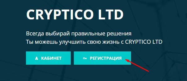 Регистрация в Cryptico 1