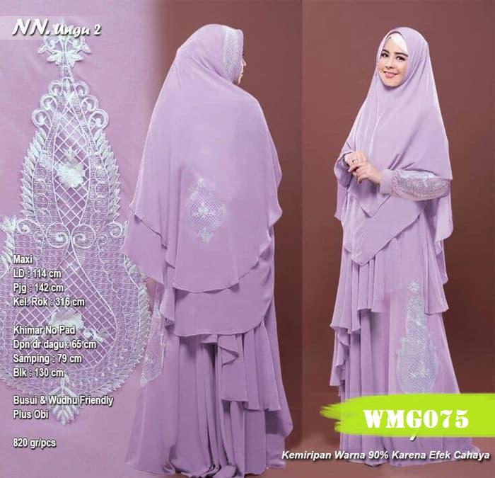Baju Muslim Terbaru Gamis Syari Ungu Wmg075 Warongmuslim Com