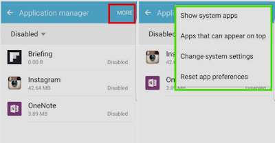 How to list applications in Galaxy S7 application manager