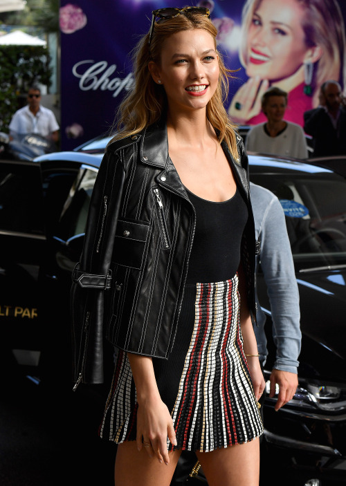 Karlie Kloss Shows Off Her Style as She Exits Her Hotel in Cannes