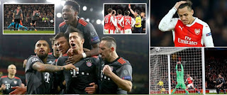 Arsenal vs Bayern Munich 1-5