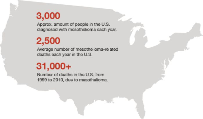 Mesothelioma statistics in the USA