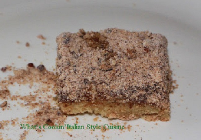 cinnamon coffee cake for two  people