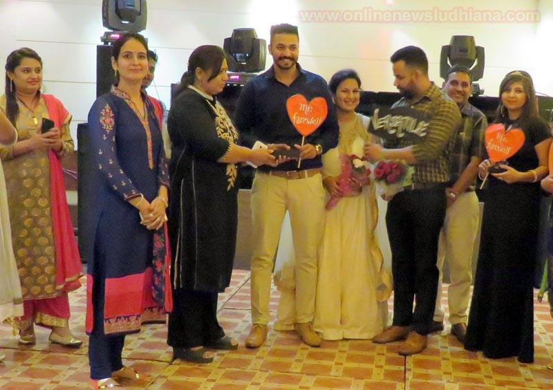 Mr. and Miss Farewell Amritpal Singh and Shivani with others during Farewell Party at LCET