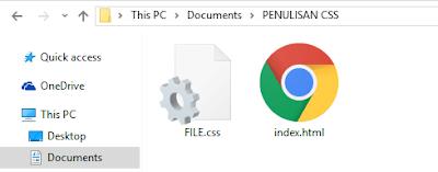 Cara Penulisan CSS ( Cascending Style Sheet ) External