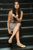 Actress Vanditha Stills in Short Dress at Kesava Movie Success Meet .COM 0171.JPG