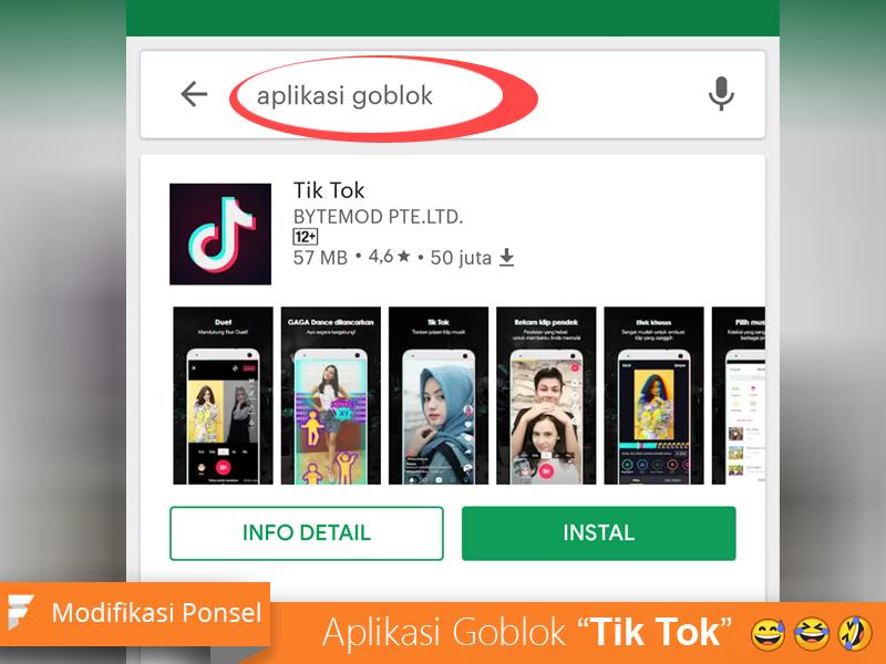 Aplikasi GOBLOK ternyata Tik-Tok