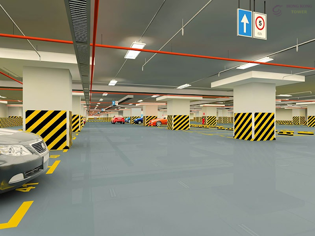 Hầm để xe chung cư Hồng Kong