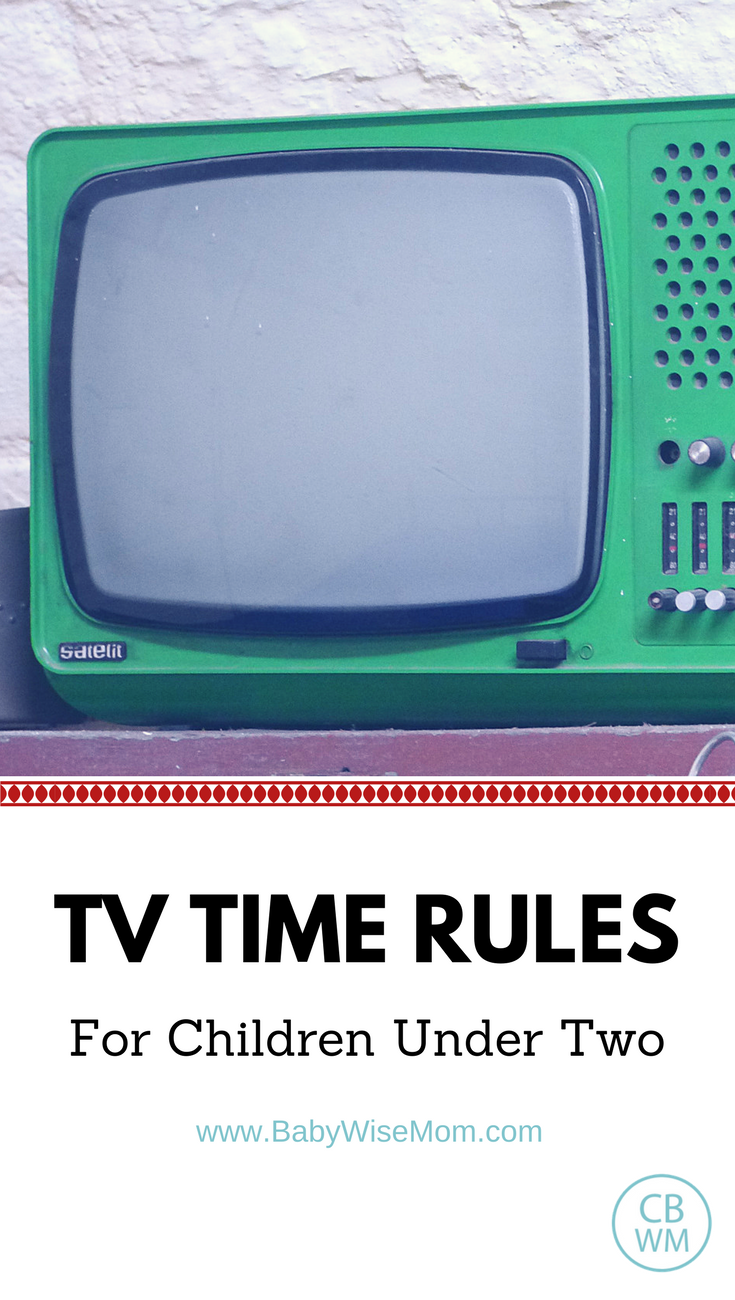 TV Time Rules for Children Under Two