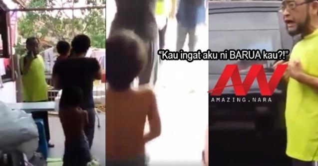 Bengang Kereta Dibaling Putik Mangga, Lelaki Ini Maki Hamun Budak 4 Tahun