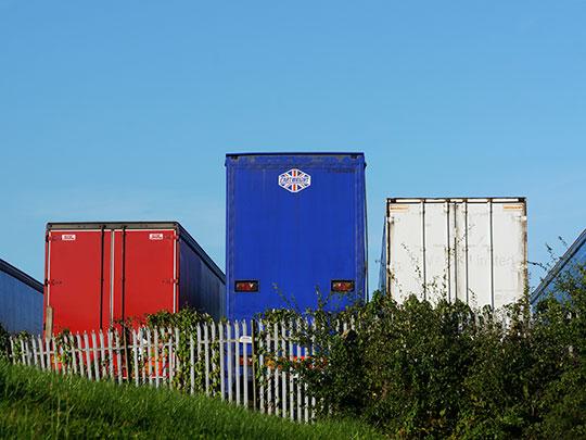 urban photography, urban decay, urban photo, contemporary, art, Sam Freek, trucks, trailers,
