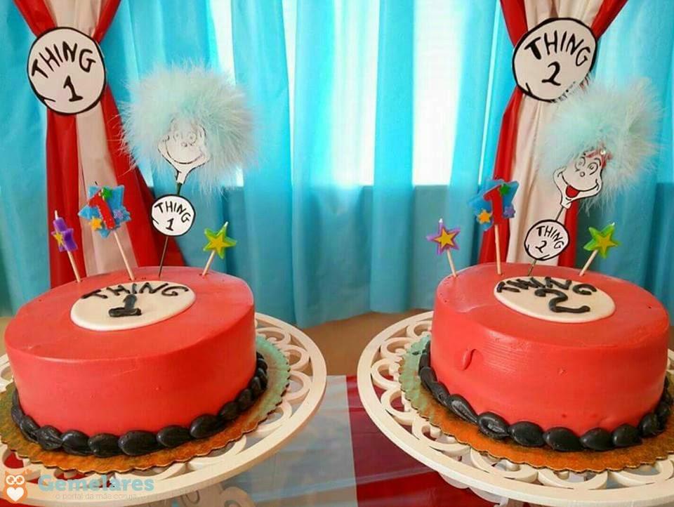 Coisa 1 e Coisa 2 - Aniversário de gêmeas