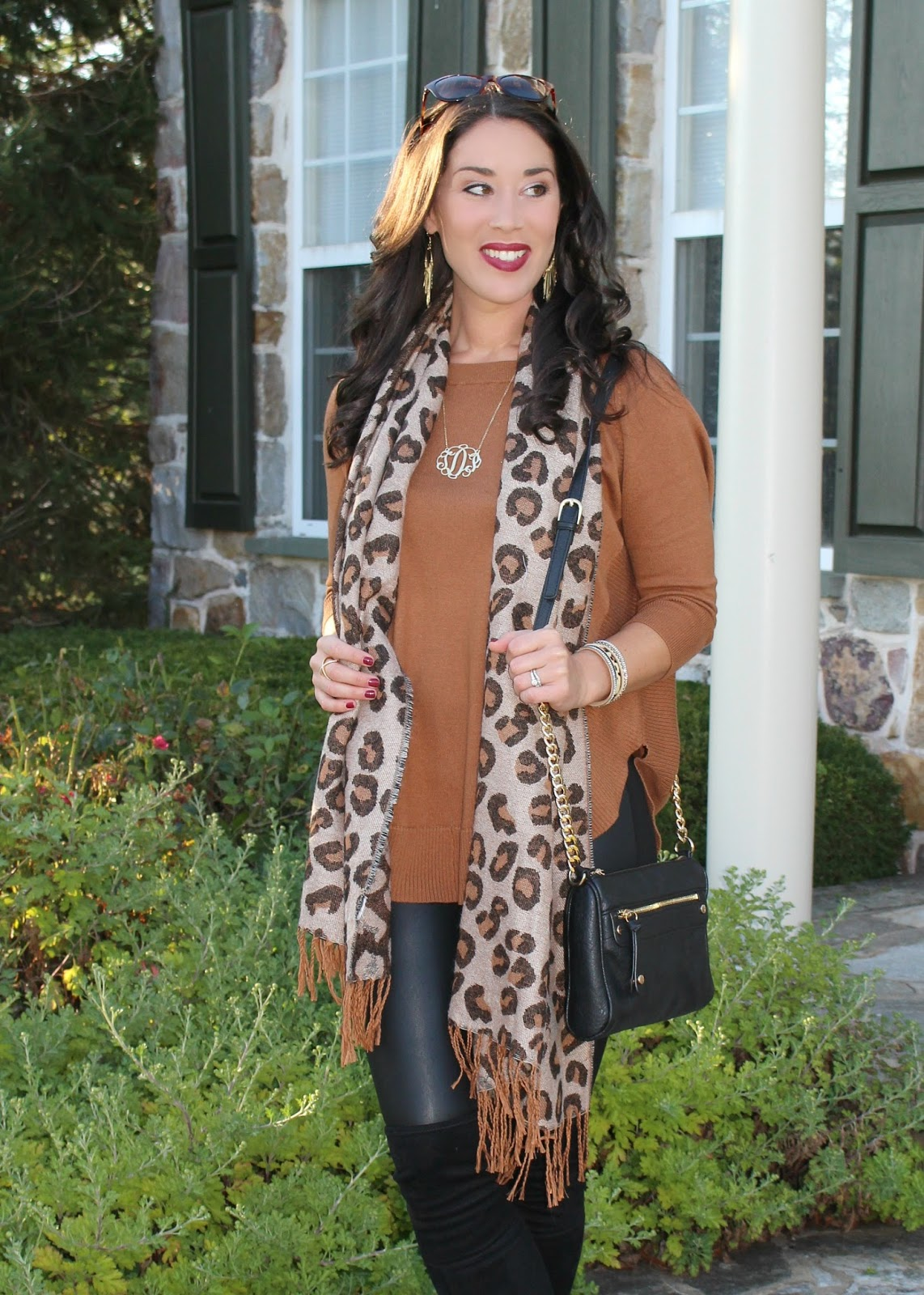 8f795ed45 Style in Harmony  Circle Hem Tunic with Faux Leather Leggings