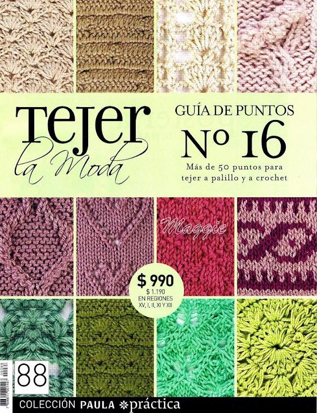 TECER A MODA GUIA DE PONTOS  Nº16-Tejer La Moda Nº16