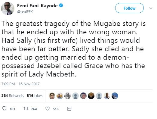 Grace Mugabe is a Demon Possessed Jezebel - Femi Fani-Kayode