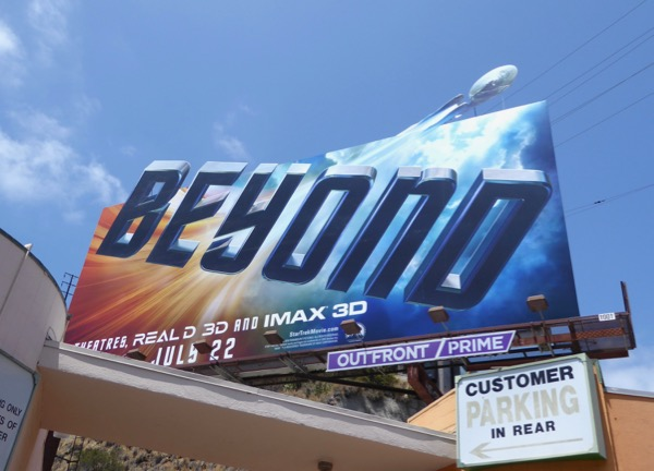 Star Trek Beyond movie billboard