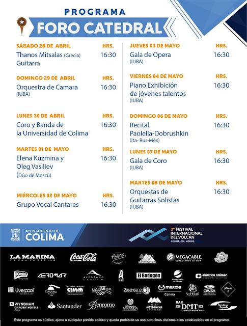 programa festival del volcán colima 2018