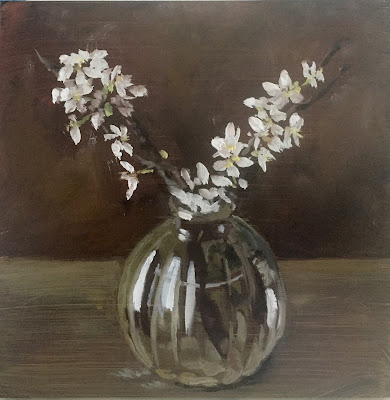 """Plum blossom"" Original oil painting by Philine van der Vegte"