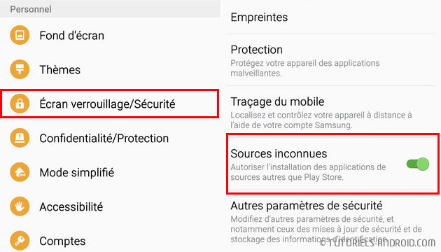 Sources inconnues Android 6 et Android 7