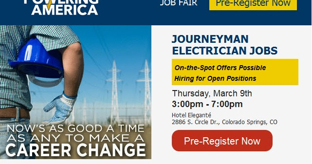 Best Jobs Hiring Now: Electrician Job Fair in Colorado Springs