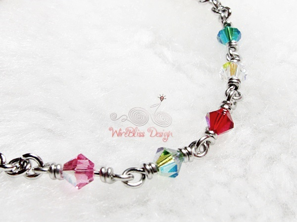 Minlet with Mixed Swarovski Crystal @WireBliss