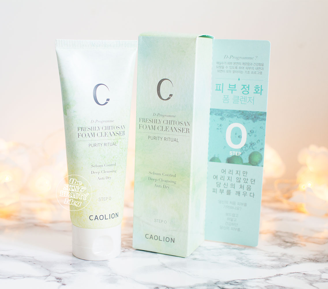 Caolion Freshly Chitosan Foam Cleanser Peach & Lily Review