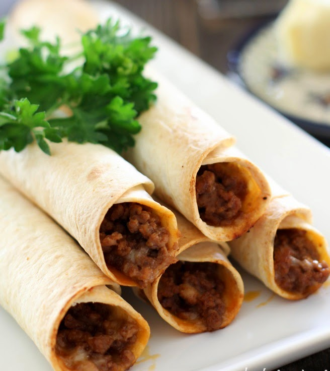 oven baked beef taquitos